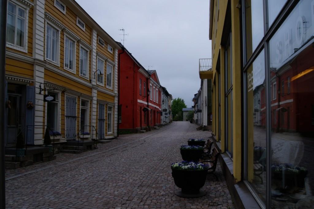 historisches Stadtzentrum Porvoo mit Einkaufsstraße